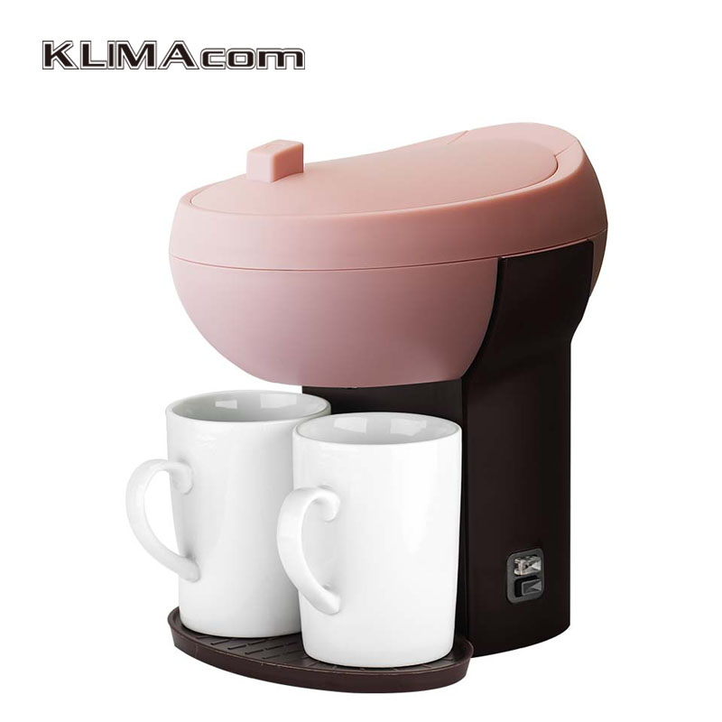 Cute 2 Cups drip coffee maker Portable 0.3L Stainless steel permanent filter Coffee/Tea machines 220-240 Volts Plastic 5pcs cute long handle plastic coffee milky tea juice stirrer