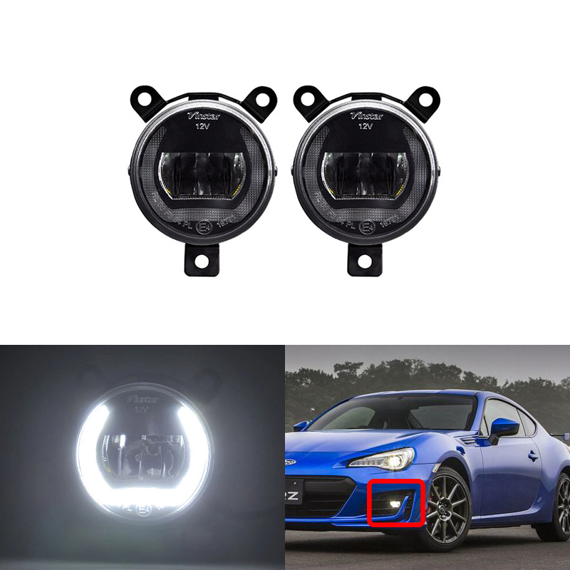 White CANbus DRL Halo Ring Led Front Bumper Driving Fog Lights For Subaru BRZ 2017 For