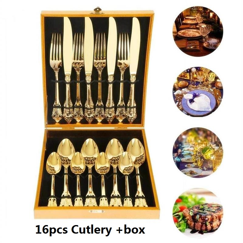 Gold Cutlery set  (4)