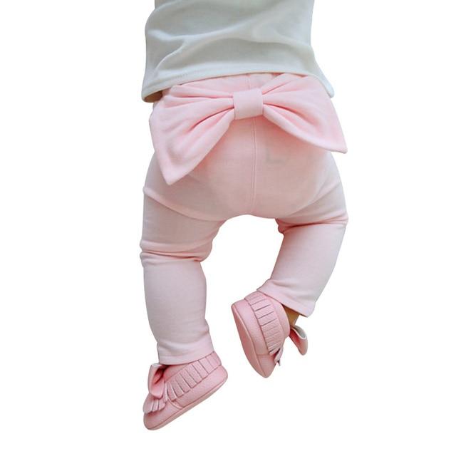 5bdd3ca91 Big Bow Baby Girls Pants Cute Newborn Baby Leggings Cotton Comfortable Boys  Pants Fashion Autumn Leggings Baby Girls Clothing
