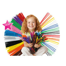 100Pcs/set Educational Toys Montessori Materials Chenille Children Sticks Puzzle Craft Colorful Plush Sticks Handmade DIY Toys
