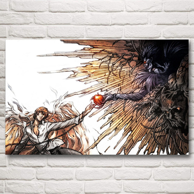 FOOCAME Death Note Japanese Anime Art Silk Posters and Prints Painting Home Decor Wall Pictures For Living Room 12x19 22x35 Inch
