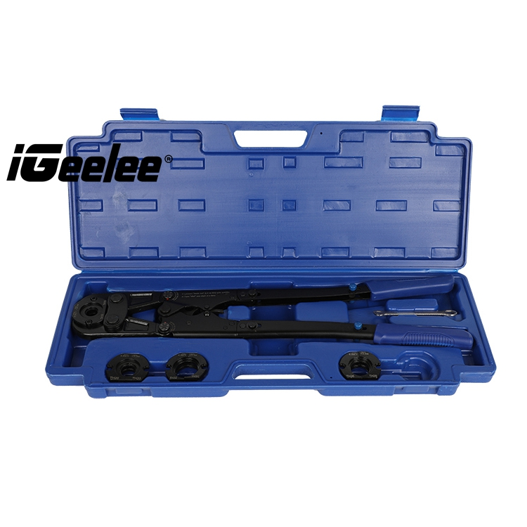 iGeelee IG 1632B Pex Pipe Installation Plier with pressure numerical adjustment with TH dies of 16