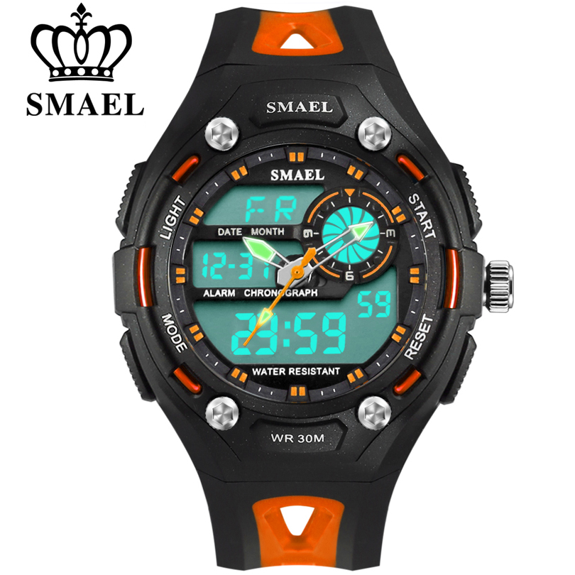 SMAEL Brand Children Fashion Watches LED Digital Quartz Watch Boy And Girl Student Multifunctional Waterproof Wristwatches