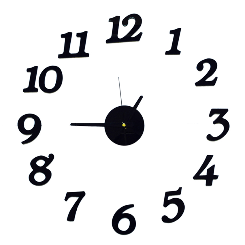 Free shipping 3D Best Home Decoration DIY Wall Clock Unique small number Stickers Self Adhesive home