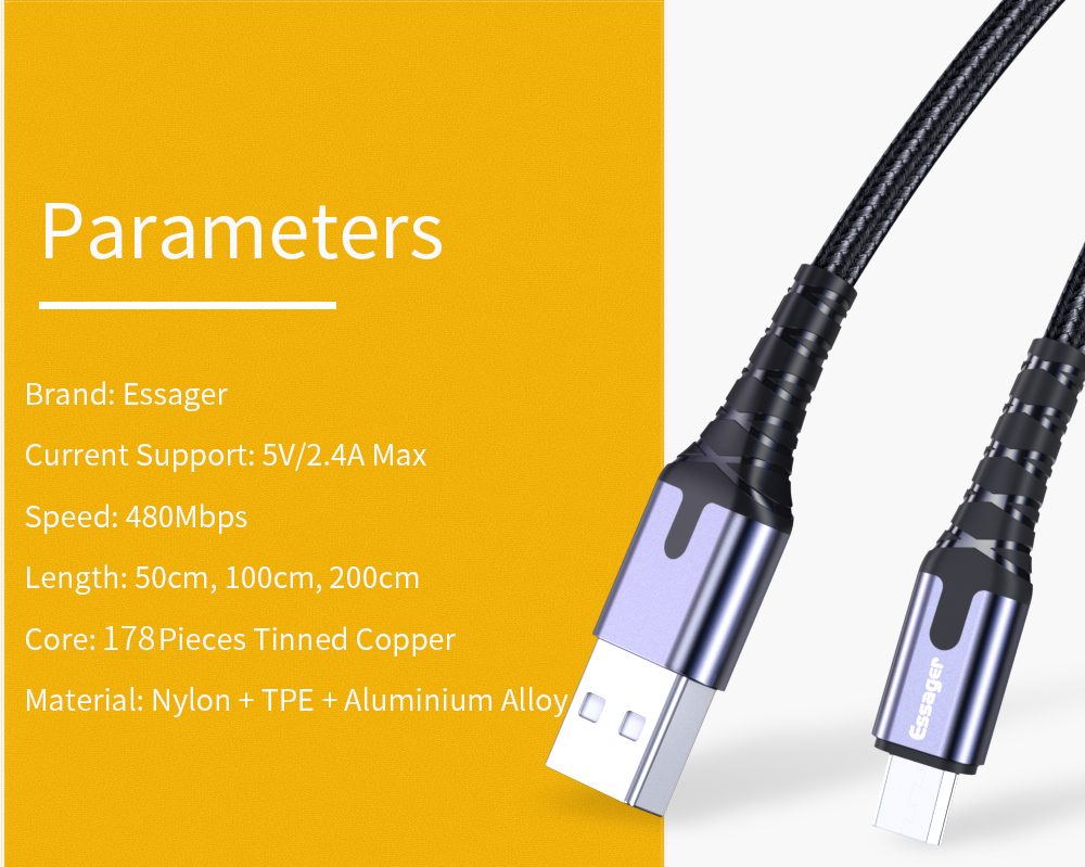 micro usb cable essager pakistan brandtech.pk