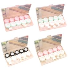 5 Pair/set Practical Contact Lens Case Multiple Pairs Beautiful Small Fresh Glasses Cases Companion Box