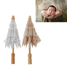 Newborn Baby Photography Props Lace Umbrella Infant Studio Shooting Photo Prop(China)