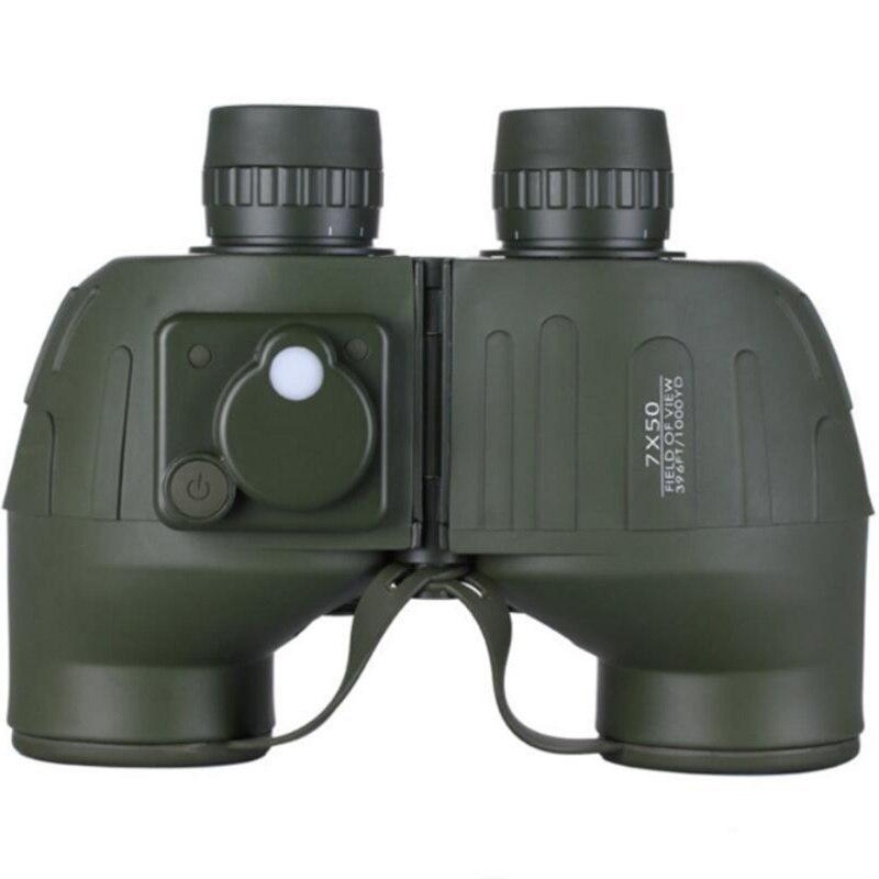 Outdoor army green 7x50 Nitrogen inflator waterproof long range calibration compass range coordinate super powerful binoculars стоимость