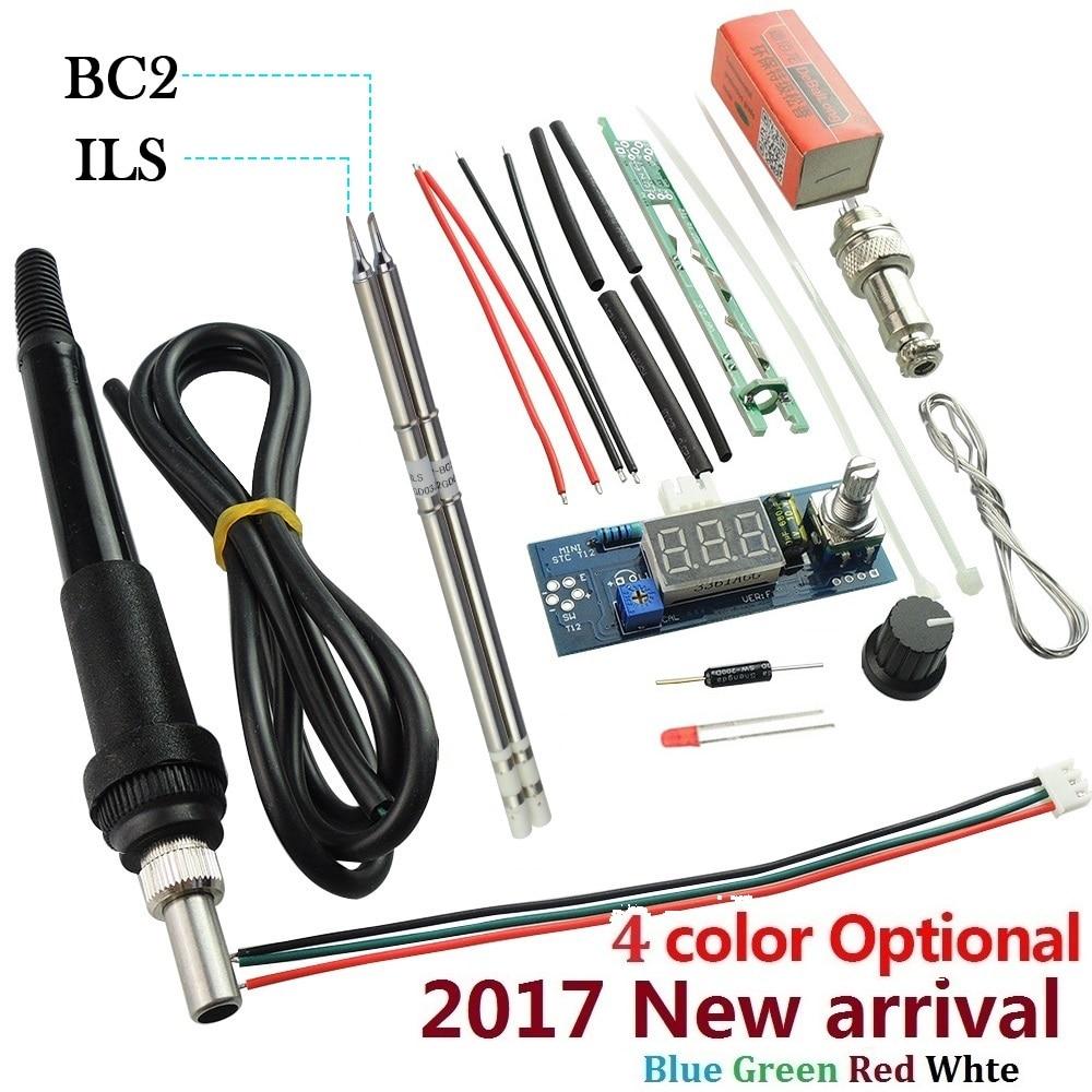 Unità Digital Stazione di Saldatura di Ferro elettrico Regolatore di Temperatura Kit FAI DA TE per HAKKO T12 Maniglia LED interruttore di vibrazione consigli kits