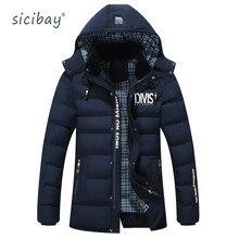 2016 BRAND Winter SICIBAY Jacket Men Coat Long Thicken Outwear Hooded  Men's Parka 6813
