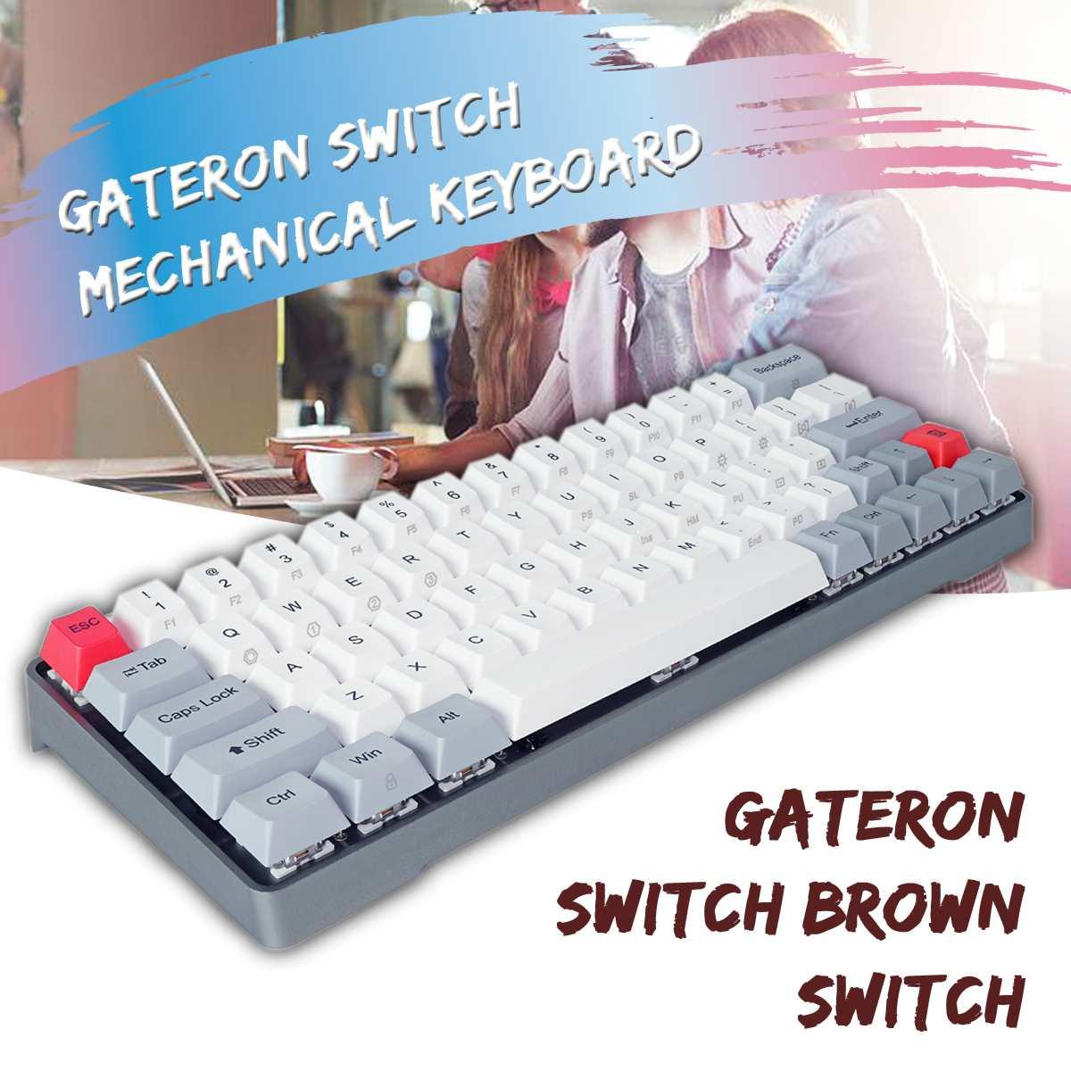 GK64 boîtier en alliage d'aluminium PBT Keycaps Gateron commutateur chaud permutable clavier mécanique de jeu rvb pour-Mac OS Windows