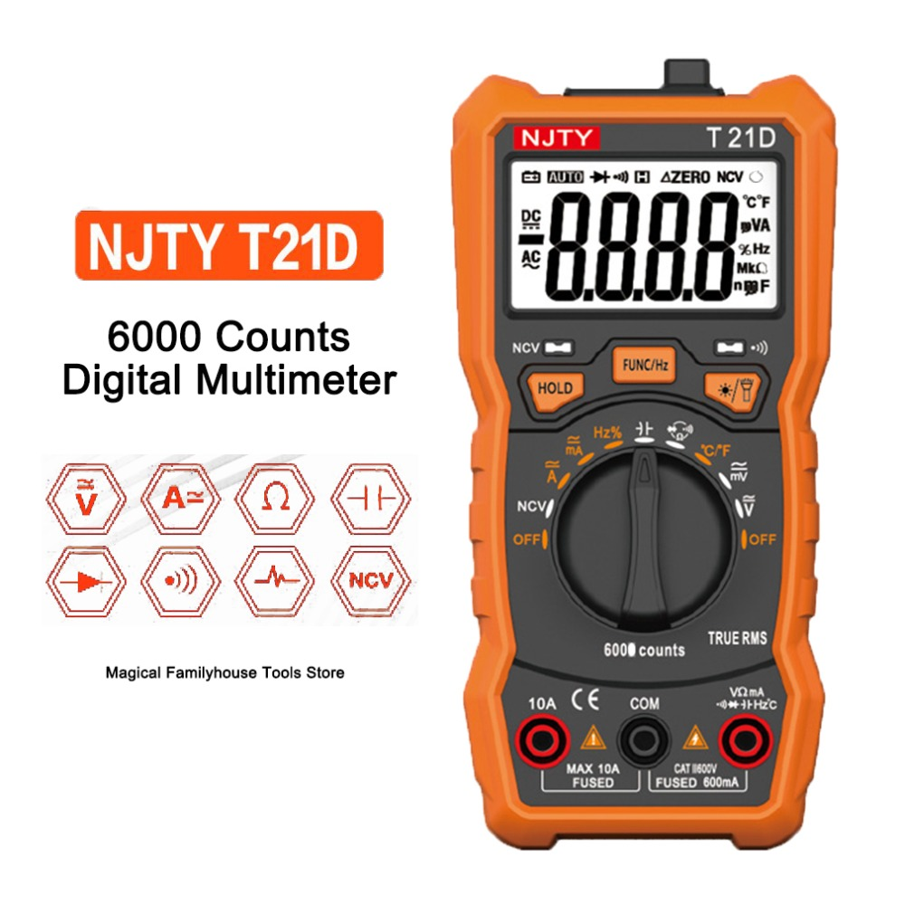 T21A T21D Multimetro Digital Multimeter Transistor Tester Mastech esr lcr Multimetr Meter rm multimetre Profesional Analogico