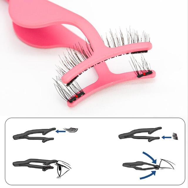 Shozy Magnetic eyelashes with 3 magnets magnetic lashes natural false eyelashes magnet lashes with eyelashes applicator-24P-3 3