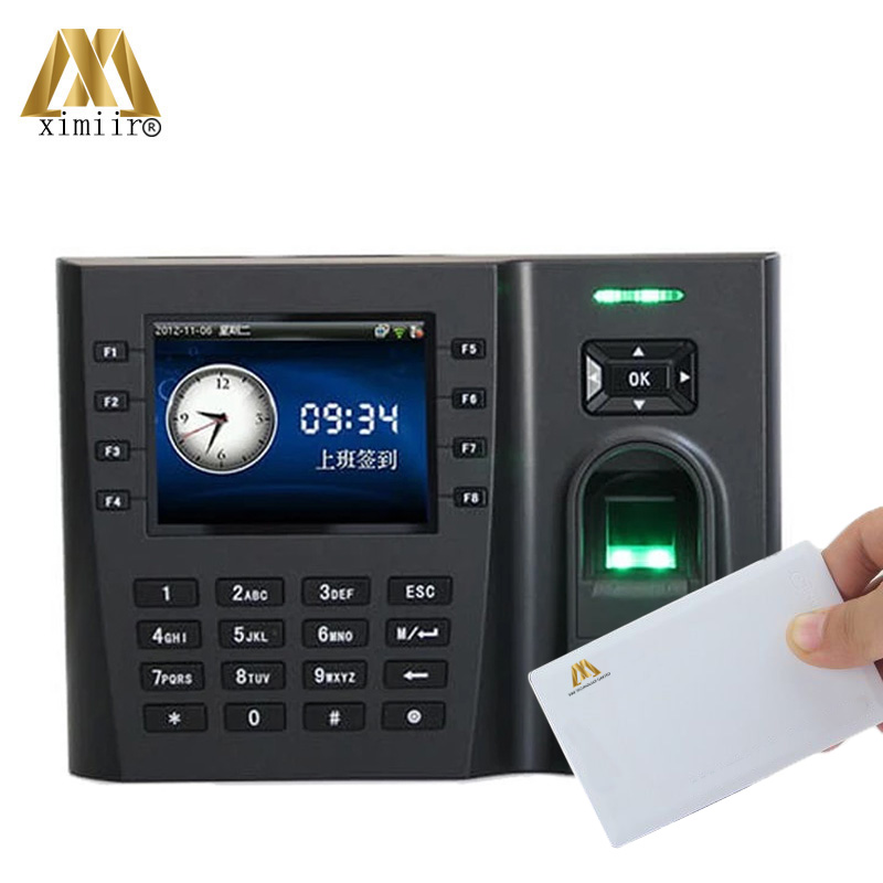 Hight Quality Fingerprint Time Attendance Iclock260 With 13.56MHz MF Card Biometric Card Time Recording