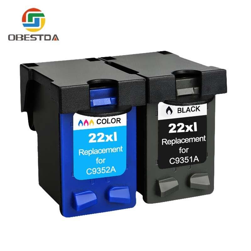 Obestda 21XL 22XL Refill Ink Cartridge Replacement For Hp 21 22 XL For Deskjet 3910 3930 3940 D1311 D1320 D1330 D1341