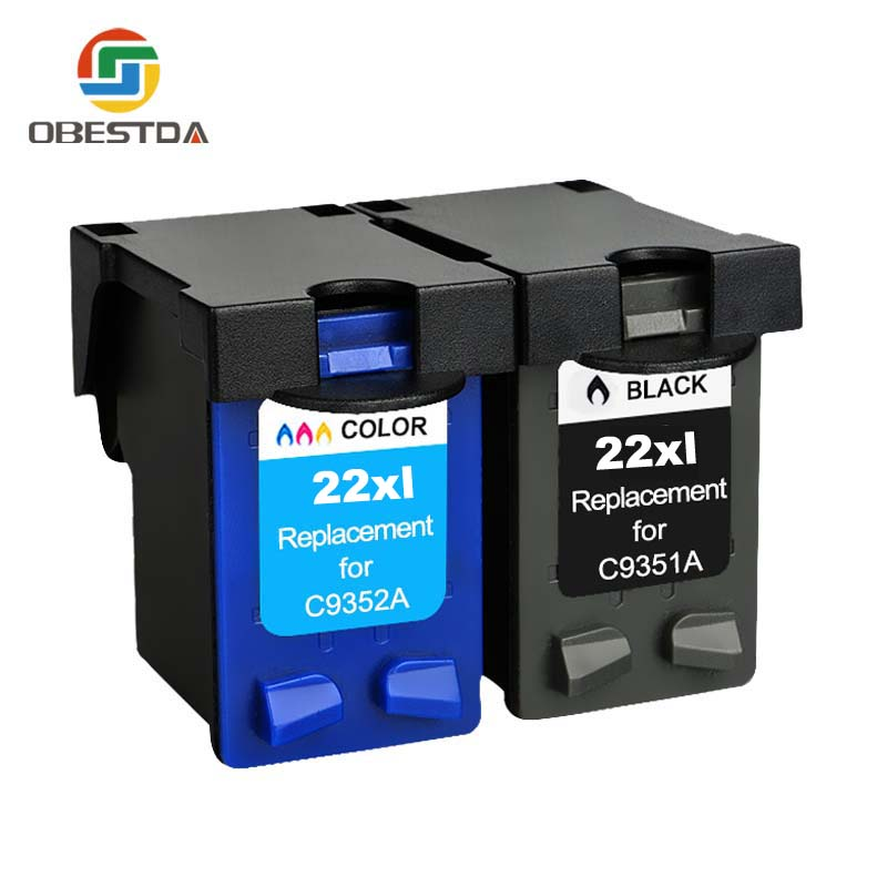 Obestda 21XL 22XL Refill Ink Cartridge Replacement for hp 21 22 XL for Deskjet 3910 3930