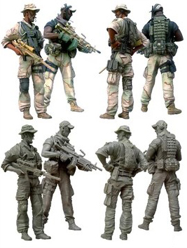 1/35 Scale Unpainted Resin Figure U.s.special Forces Operator D