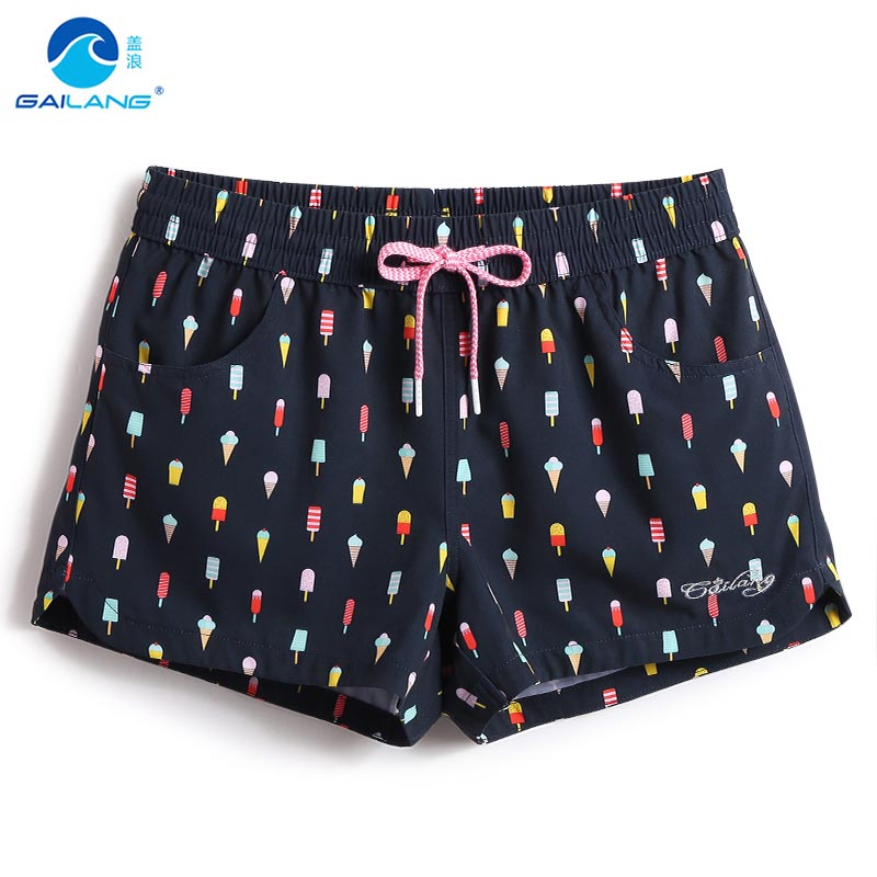 Summer ladies   board     shorts   swimwear woman swimsuits quick dry beach   short   swim water sexy sports running joggers lovely pattern