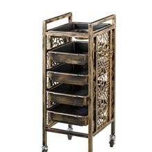 Ретро салон красоты Парикмахерская горячая краска инструмент тележка шкафчик стойка