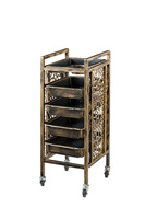 Retro beauty Salon hair cart hair salon Barber Shop hot dyeing tool trolley locker rack