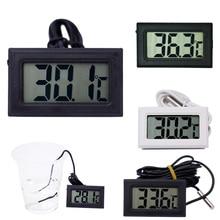 ЖК-цифровой мини-термометр для морозильной камеры температура-50~ 110 градусов Холодильник термометр скидка 20