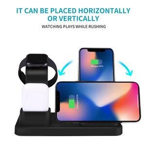 Image 3 - Fdgao 3 in 1 충전 스탠드 iphone 11 pro x xs xr 8 airpods apple watch 5 4 3 2 1 10 w 고속 qi 무선 충전기 독 스테이션