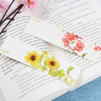 30pcs/set Chinese Style Flowers Paper Bookmarks Painting Cards Beautiful Bookmark Cute Gifts School Supplies