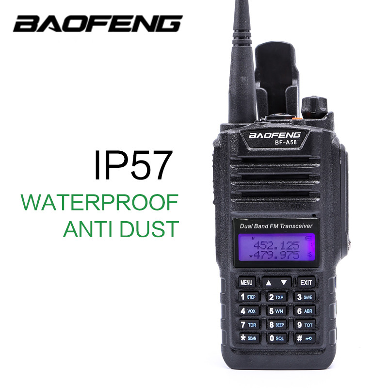Baofeng professionnel talkie-walkie étanche BF-A58 avec SOS FM Station Radio CB Ham Radio bidirectionnelle double bande Vhf Uhf