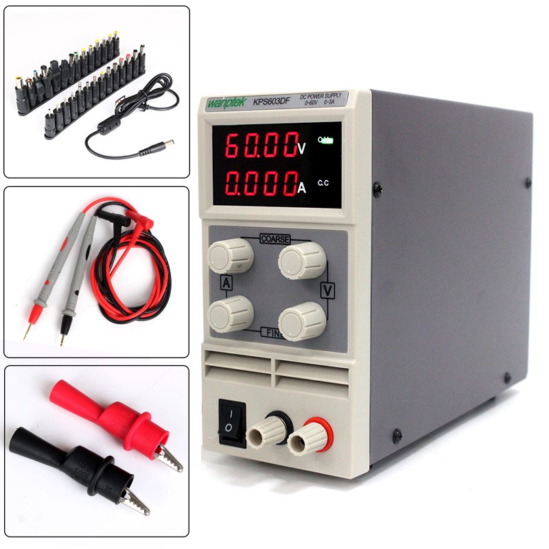 Original double display for mobile phone notebook repair,60V 3A adjustable DC power supply kuaiqu high precision adjustable digital dc power supply 60v 5a for for mobile phone repair laboratory equipment maintenance