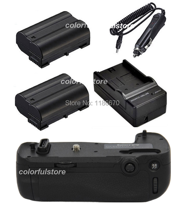 New Arrival Battery Handle Hand Grip Pack Holder Vertical Power Shutter For Nikon D750 Camera as MB-D16+2 x EN-EL15 +Car Charger new arrival mb d14 mbd14 d14 battery grip suit for nikon camera d600 d610 en el15 battery holder