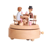 NICEXMAS 1 Pc Music Box Lovely Classical Creative Desktop Ornament Birthday Present Musical Box for Bedroom Living Room Home