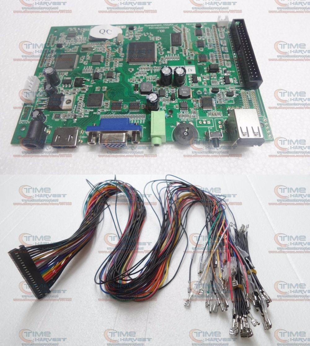 2 player USB Encoder built-in 815 in 1 Pandora Box 4S Arcade Stick Board With Wires USB adapter to PC MAME PS3 Console Joystick double joystick family arcade games console pandora s box 4s 815 in 1 game board