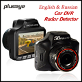 3.0 Polegada 1080 P DVR Carro Detector de Radar HD Traço Cam G-sensor Da Câmera Do Carro Gravador de Vídeo Registrator Tacógrafo inglês & Russa