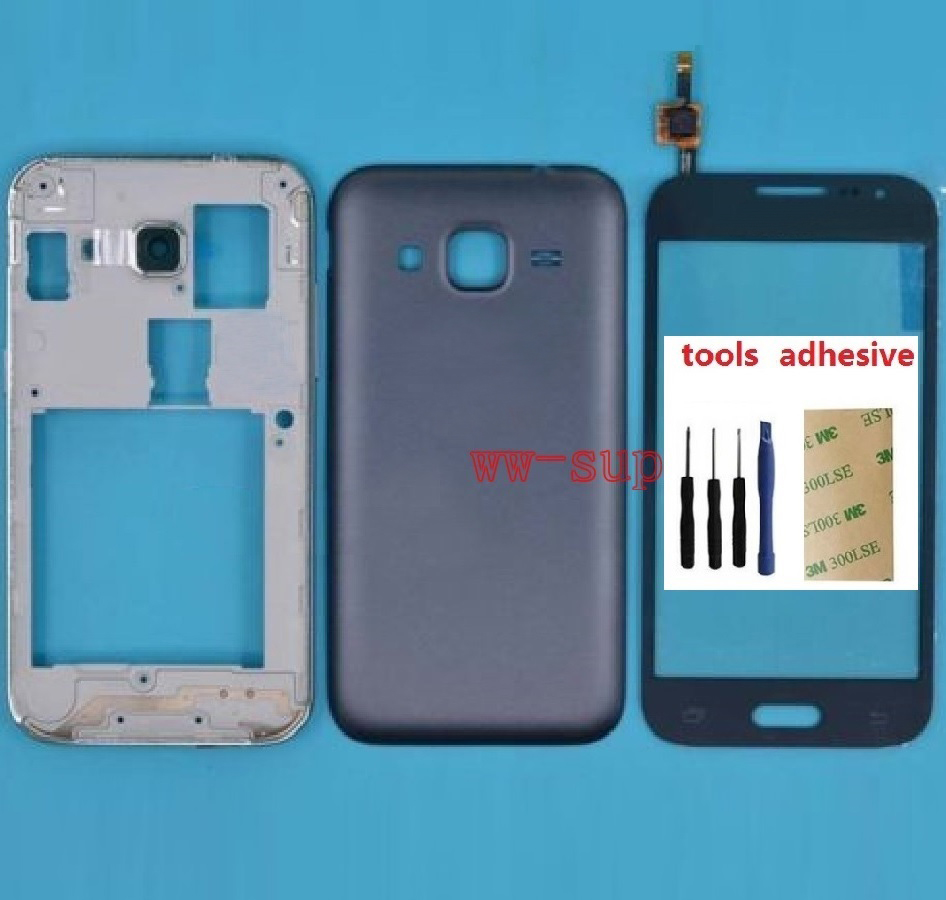 26b42a6d55f Para Samsung Galaxy Grand Prime SM-G361F G361H G361F carcasa Marco de  chasis frontal + cubierta de batería + Sensor digitalizador de pantalla  táctil