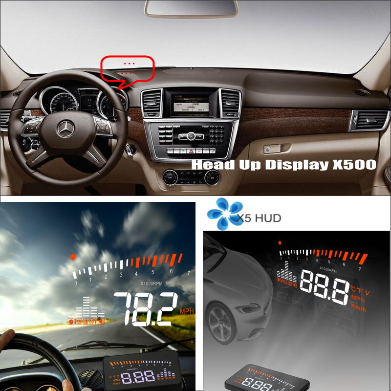 For Mercedes Benz M ML W166 2005~2011 - Safe Driving Screen Car HUD Head Up Display Projector Refkecting Windshield car hud head up display for mercedes benz sprinter reflect to windshield car s hud head up display screen projector