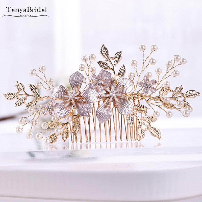 Bridal Hairpieces Flowers Pearls Elegance Wedding Accessories Vestido de Noiva Chic DH015