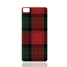 07287 RED BLUE TARTAN SCARF FASHION cell phone Cover Case for BQ Aquaris M5.0 for ZUK Z1 FOR GOOGLE nexus 6