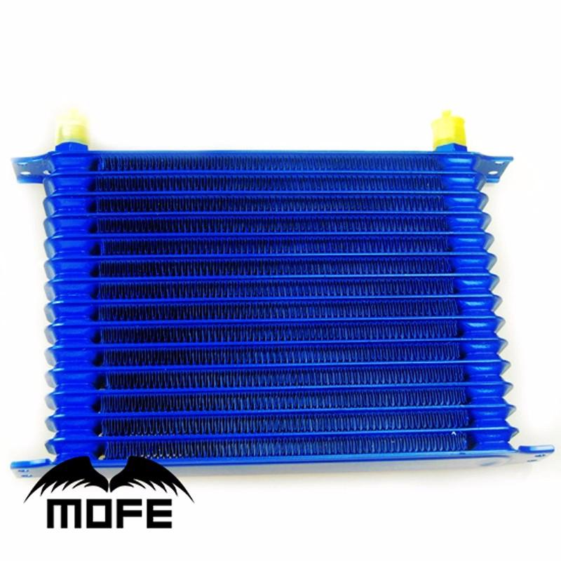 мфэ гонки 15 ряд Тип an10 алюминий авто двигатели трансмиссии масляный радиатор для автомобилей синий