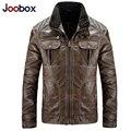 JOOBOX 2017 Новая кожаная куртка, Ретро PU мужская кожаная куртка, а также размер мотоцикл куртка, высокое качество зимние мужские пальто (PY019)