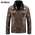 JOOBOX 2017 New leather jacket,Retro PU men leather jacket,plus size motorcycle jacket, high quality winter men coats (PY019)