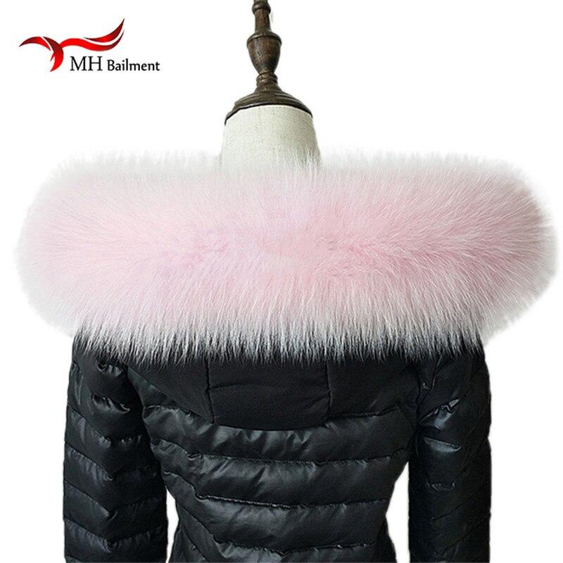 100 Real Fur Scarf Jacket Fur Collar Women Winter Coat Fur Scarves Luxury Fox Fur Genuine