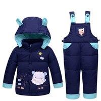 2017 Kids Clothes Autumn Winter Down Jackets For Girls Boys Warm Coats Snowsuit Children Outerwear Cow