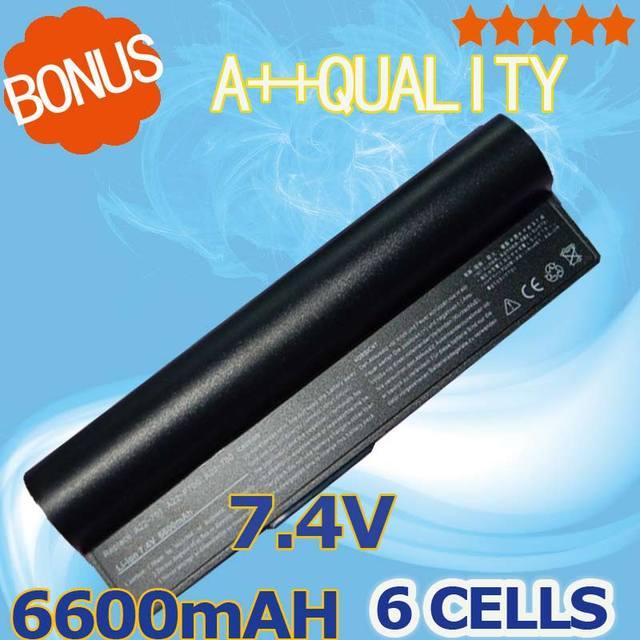 6600mAh 7.4v 6 cells For Asus Battery 90-OA001B1000 A23-P701 A22-700 P22-900 A22-P701 Eee PC 2G Surf 700 900 4G 701 4G