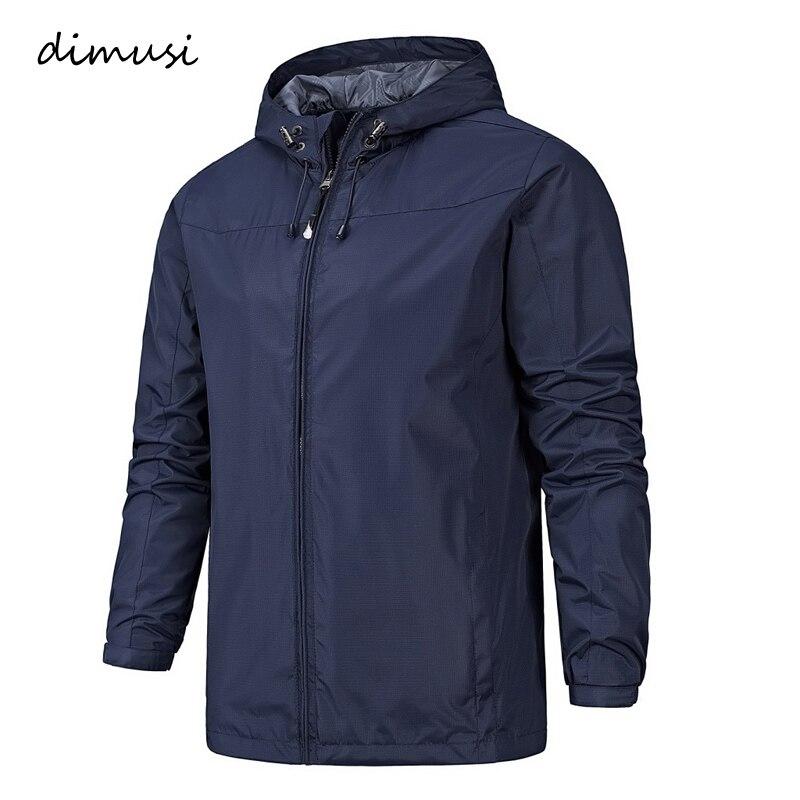 DIMUSI Spring Mens Jackets Male Fashion Outwear Windbreaker Thin Coats Men Sportwear  Tracksuit Hoodies Mens Bomber Jackets 3XL