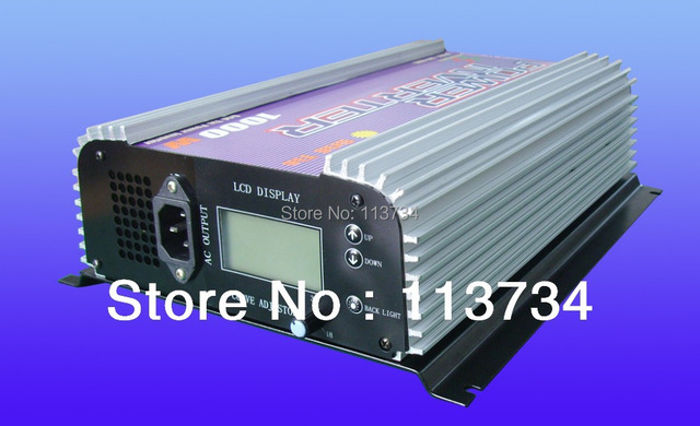 MPPT wind Grid Tie LCD Inverter 1000W Watt pure sine wave power invertor,AC 24V 48V 22-60V to AC 120V 230V