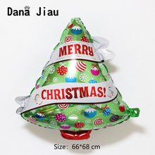 Merry christmas tree decoration balloon happy new year kids gift party DIY ballon boy Santa Claus snowman hand stick ball(China)