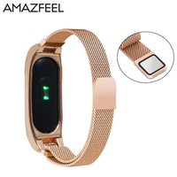 Metal Screwless Strap For Xiaomi Mi Band 2 Strap Smart Bracelet Magnetic Suction Metal Stainless Steel