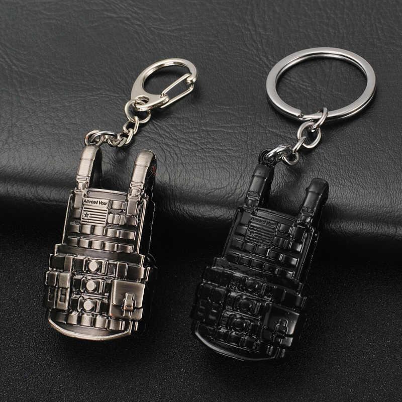 2018 Hot PUBG FPS Trò Chơi Máy Nghe Nhạc Không Rõ của Trận Chiến Căn Cứ 3D Keychain vũ khí ăn gà trò chơi tối nay Người Đàn Ông của xe keychain
