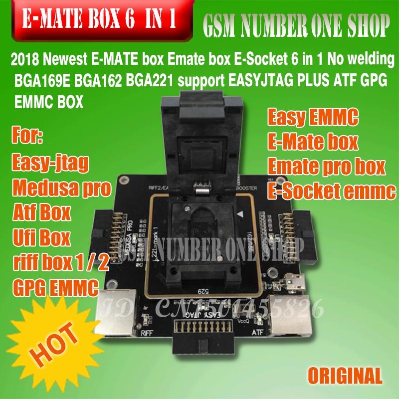 E-MATE box Emate box E-Socket 6 en 1 Sin soldadura BGA169E BGA162 - Equipos de comunicación - foto 2